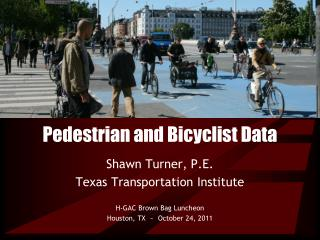Pedestrian and Bicyclist Data