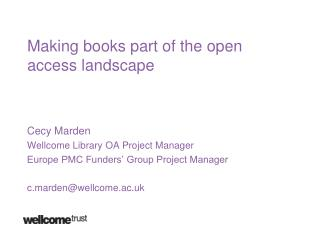 Making books part of the open access landscape