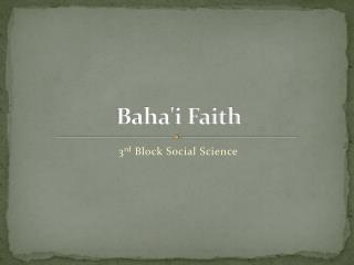 Baha'i Faith