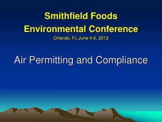 Air Permitting and Compliance