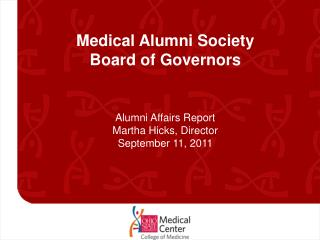 Medical Alumni Society  Board of Governors