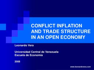 CONFLICT INFLATION AND TRADE STRUCTURE IN AN OPEN ECONOMY