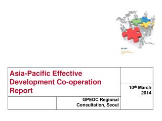 Asia-Pacific Effective Development Co-operation Report