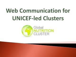 Web Communication for UNICEF- led  Clusters