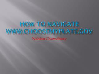 How To Navigate choosemyplate
