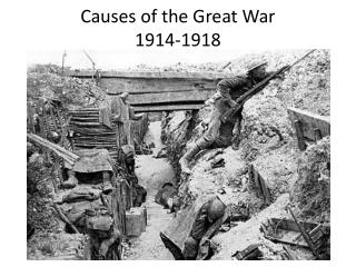 Causes of the Great War 1914-1918