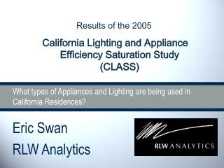 What types of Appliances and Lighting are being used in California Residences?