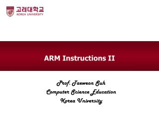 ARM  Instructions II