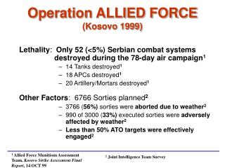 Operation ALLIED FORCE (Kosovo 1999)