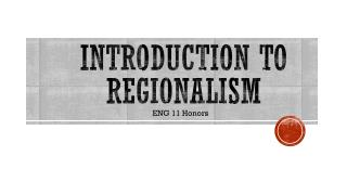 Introduction to Regionalism