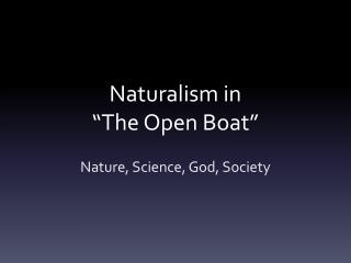 "Naturalism in  ""The Open Boat"""