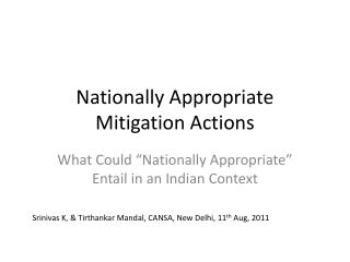 Nationally Appropriate Mitigation Actions