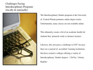 Challenges Facing Interdisciplinary Programs (locally & nationally)