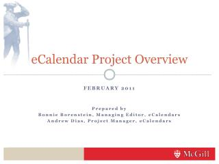 eCalendar Project Overview