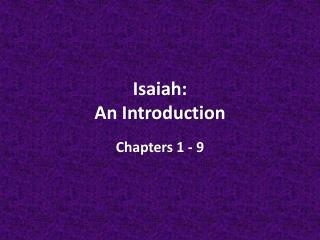 Isaiah: An Introduction