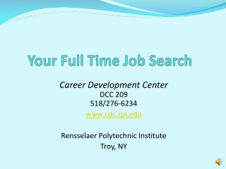 Your Full Time Job Search