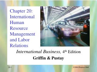 Chapter 20: International Human Resource Management and Labor Relations