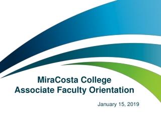 MiraCosta College Associate Faculty Orientation