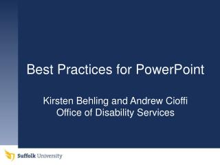 Best Practices for PowerPoint