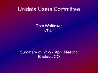 Unidata Users Committee