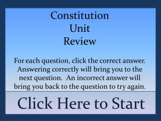 Constitution Unit Review