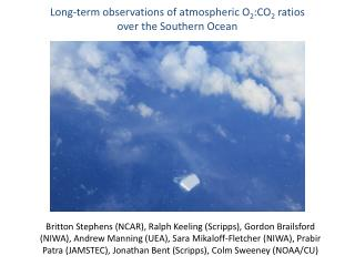 Long-term observations of atmospheric O 2 :CO 2  ratios  over the Southern Ocean