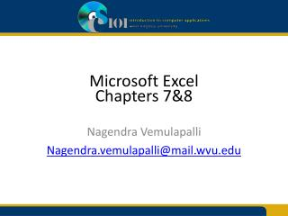 Microsoft Excel Chapters 7&8