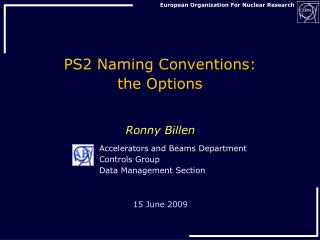 PS2  Naming  Conventions: the Options