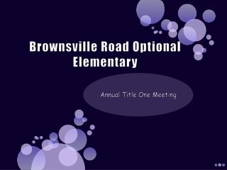 Brownsville Road Optional Elementary