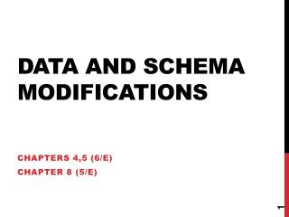 Data and Schema Modifications