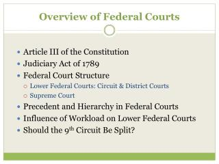 Overview of Federal Courts