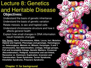 Lecture 8: Genetics and Heritable Disease