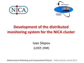 Development of  the  distributed monitoring system for the NICA cluster