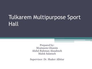 Tulkarem Multipurpose Sport Hall