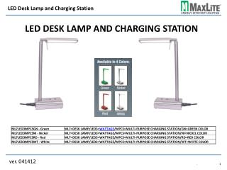 LED Desk Lamp and Charging Station