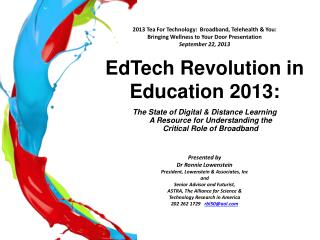 EdTech  Revolution in Education 2013: