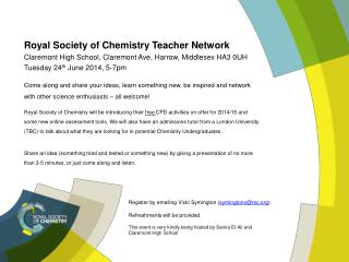 Royal  Society of Chemistry Teacher  Network