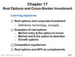 Chapter 17 Real Options and Cross-Border Investment