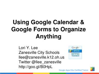 Using Google Calendar & Google Forms to Organize Anything