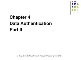 Chapter 4  Data Authentication Part II