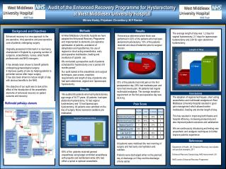 Audit of the Enhanced Recovery Programme for Hysterectomy  at  West Middlesex University Hospital