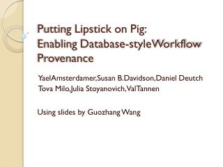 Putting Lipstick on Pig: