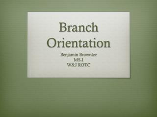 Branch Orientation