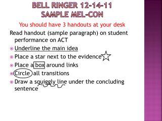 ppt bell ringer 12 14 11 sample mel con powerpoint presentation