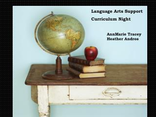 Language Arts Support Curriculum Night AnnMarie Tracey Heather Andros