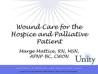 Wound Care for the Hospice and Palliative Patient