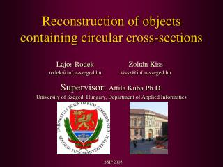 Reconstruction of objects containing circular cross-sections
