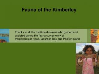 Fauna of the Kimberley