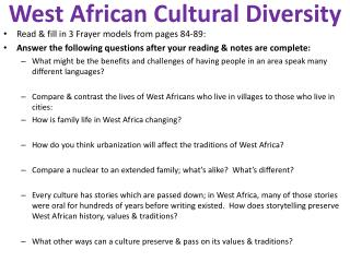 West African Cultural Diversity