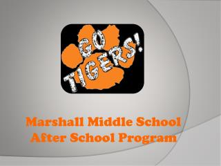 Marshall Middle School After School Program